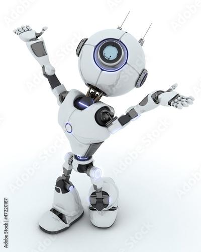 Robot Celebrating