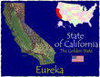 California USA State map location nickname motto