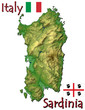 Sardinia island Italy Europe national emblem map symbol motto