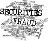Word cloud for Securities fraud