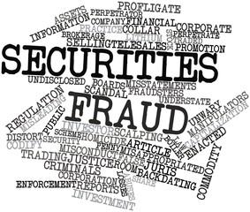 Word cloud for Securities fraud
