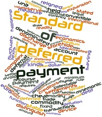 Word cloud for Standard of deferred payment