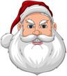 Santa Angry Face Front