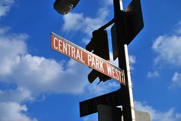 Panneau New York Central Park West