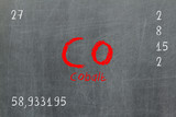 Isolated blackboard with periodic table, Cobalt