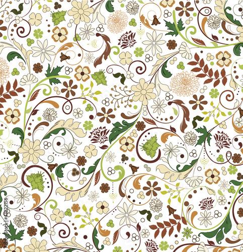 Naklejka kwiatowy wzór bez szwu, wektor, projekt