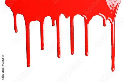 Leinwandbild Motiv Red dripping paint