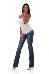Young Black woman posing