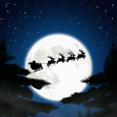 Moon with santa.