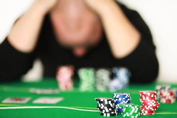 Pokerspieler hat verloren