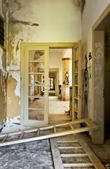 abandoned building, door broken