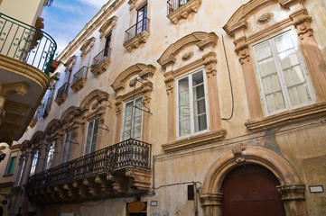 Fontana- Doxi palace. Gallipoli. Puglia. Italy.