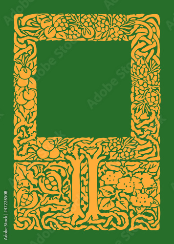 Vintage baroque vector frame for book cover