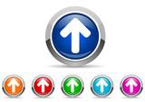 arrows vector icon set on white background