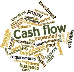 Word cloud for Cash flow