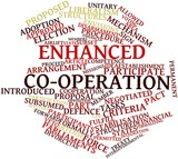 Word cloud for Enhanced co-operation poster