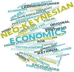 Word cloud for Neo-Keynesian economics