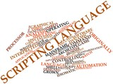Word cloud for Scripting language poster