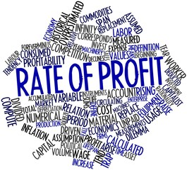 Word cloud for Rate of profit