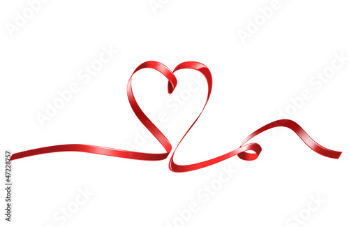 red heart shaped ribbon