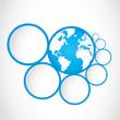 abstract globe symbol with option circles