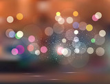 vector abstract background.Holiday evening city
