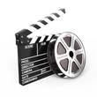 Film and clap board - video icon