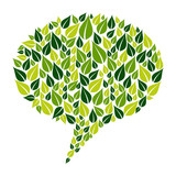Go Green social marketing campaign poster