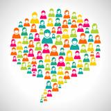 Diversity people speech bubble