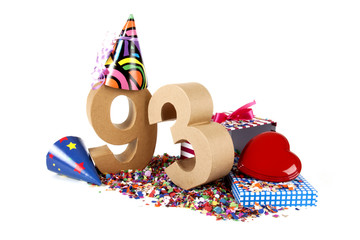 Age in figures in a party mood