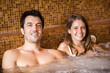 Couple doing a whirlpool bath in a spa