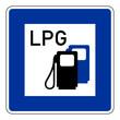 LPG Schild, Autogas, Tankstelle - LPG filling station
