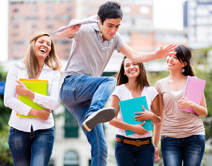Students having fun