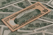 A lot of dollars Highly detailed picture of American money