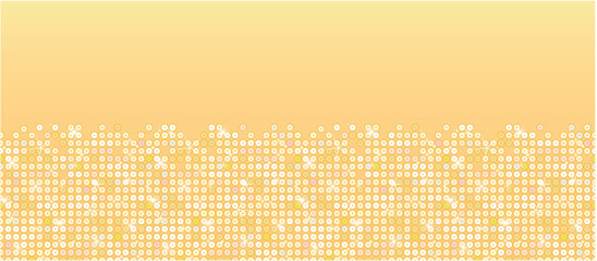 Vector golden sparkles horizontal seamless pattern background