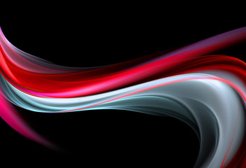 Elegant red and white fractal waves