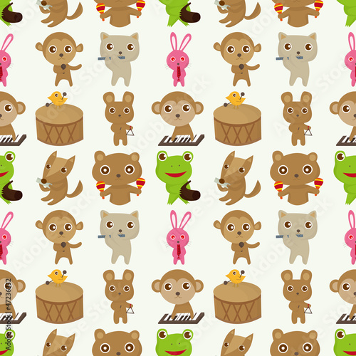 animal music pattern