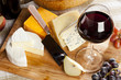 Red Wine And Cheese Plate