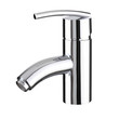 Chrome faucet the bathroom aluminum accessory isolated