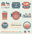Vector Set: Vintage Political Science Labels and Icons
