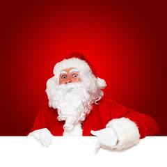 Weihnachtsmann zeigt