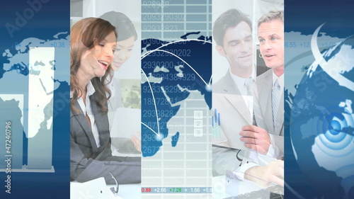 World Business Montage Images