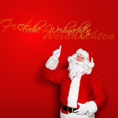 Frohe Weihnachten mit Weihnachtsmann