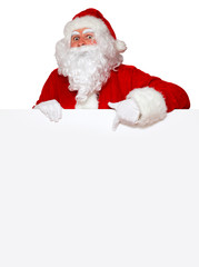Weihnachtsmann mit freier Fläche