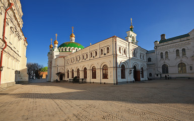 Refectory church and Refectory..National Kiev-Pechersk museum.