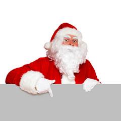 Nikolaus zeigt nach unten