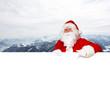 Weihnachtsmann und die Berge