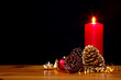Christmas candle still life