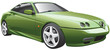 green sport car.cdr