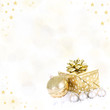 Hintergrund – goldenes Geschenk mit Sternen